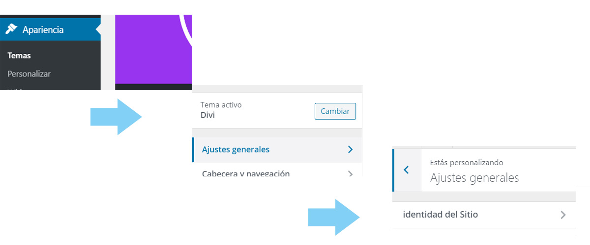 cambiar el favicon en wordpress