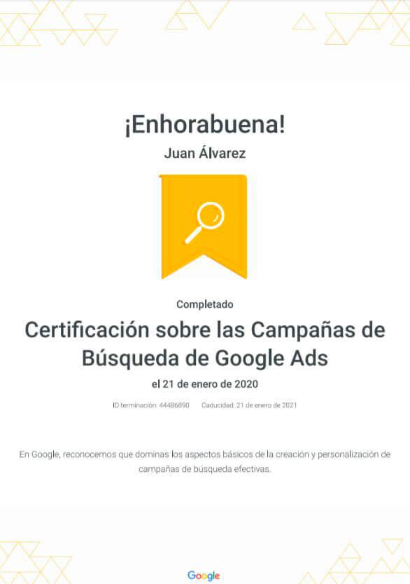 Curso de Google Adwords con certificado oficial en madrid