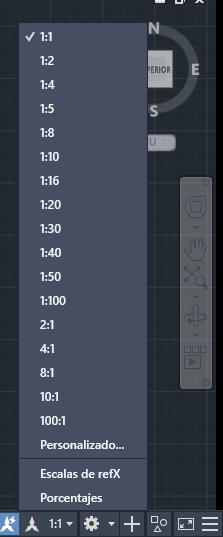 escala de autocad anotación