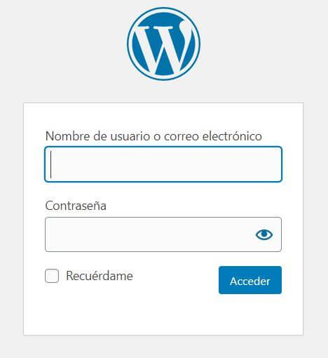 como acceder a wordpress