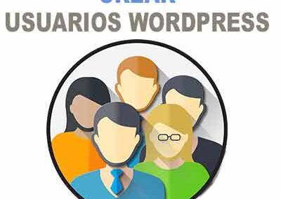 crear usuarios en wordpress