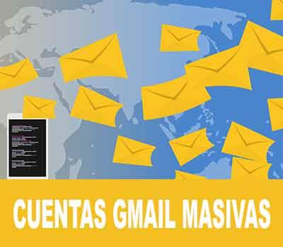 Crear cuentas Gmail masivas
