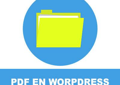 subir pdf wordpress