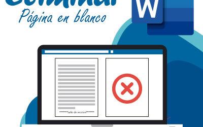 Eliminar pagina en blanco en Word
