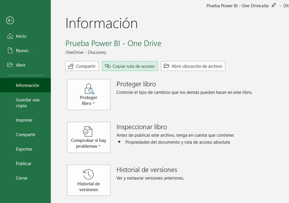 OneDrive en Power BI