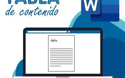 Como hacer una tabla de contenido en Word