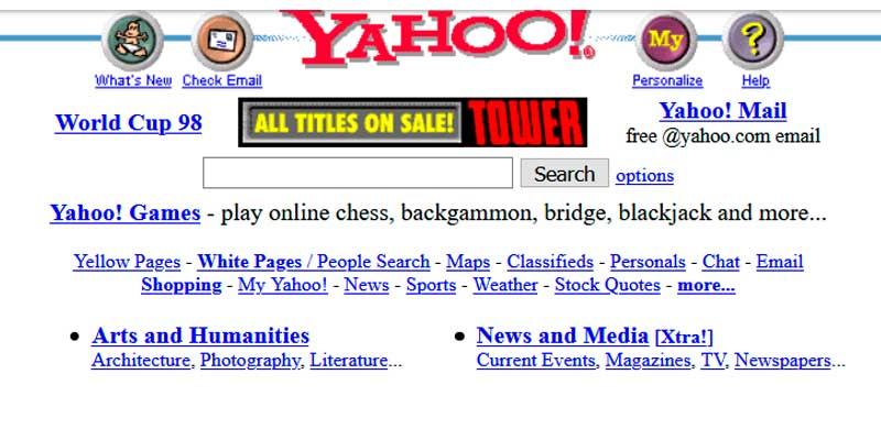 Versión antigua web