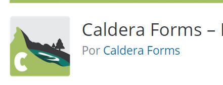 plugin caldera forms