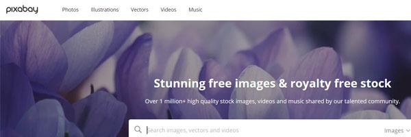 bancos de imágenes pixabay