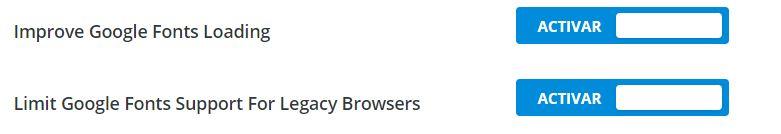 divi más rápido google fonts