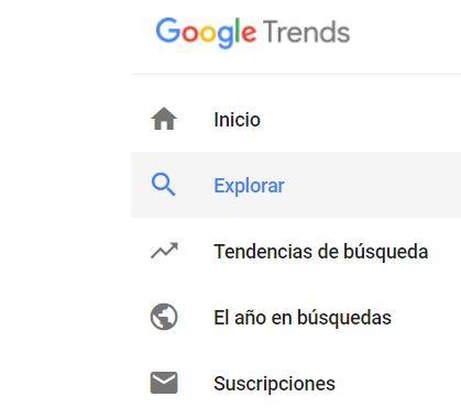 google trends secciones