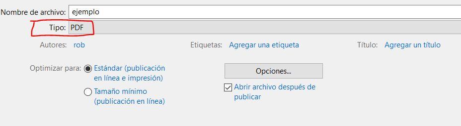 exportar a pdf en word