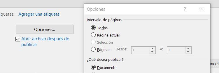 exportar pdf rango de páginas