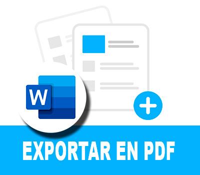 Exportar de Word a PDF